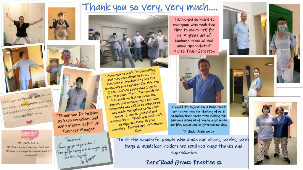 Thank you from all at Park Road Group Practice